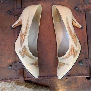 VTG Bally Snakeskin Detail Leather Heels